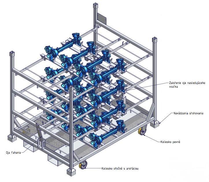 kovovy kontajner 3D model